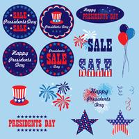 red white blue presidents day clipart graphics vector