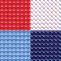 seamless nautical stars patterns vector