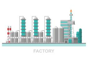 Industrial factory in a flat style.Vector and illustration of manufacturing building