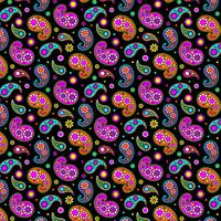bright paisley pattern