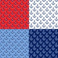seamless rope and anchor patterns