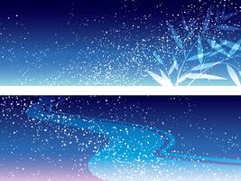 Set of two vector Milky Way illustrations for the Japanese Star Festival.