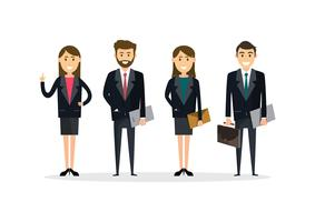 Business People teamwork ,Vector illustration in flat style