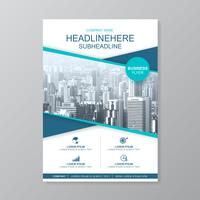 Modelo de negócios capa a4 para um design de relatório e folheto, panfleto, banner, decoração de folhetos para impressão e apresentação de ilustração vetorial