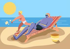 Leute, die Sommer genießen