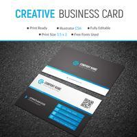 Blauwe elegante bedrijfskaart