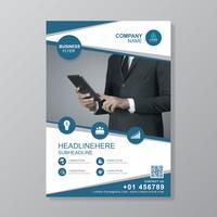 Plantilla de cubierta empresarial a4 para un informe y diseño de folleto, folleto, pancarta, decoración de folletos para impresión y presentación ilustración vectorial