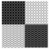 black and white geometric chain patterns
