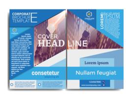 design del modello di brochure aziendale