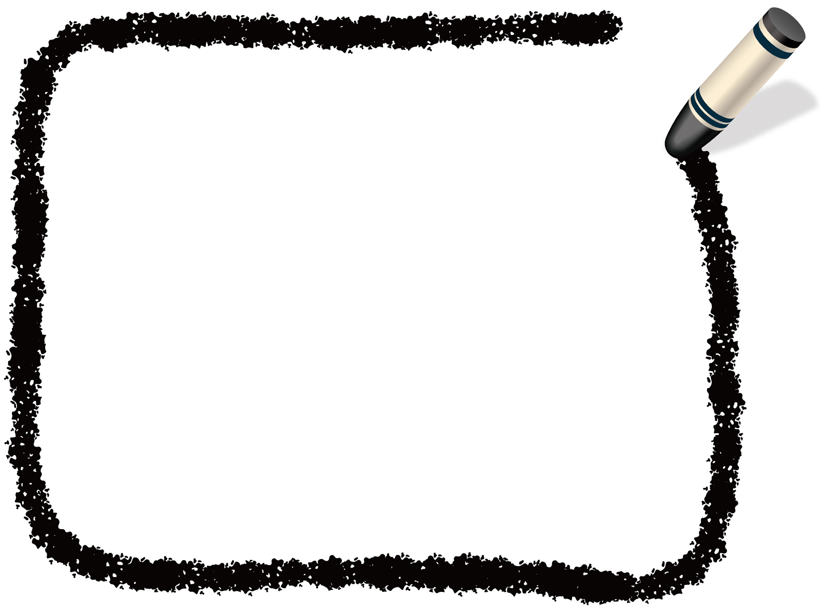 crayon border clipart black and white - Clip Art Library