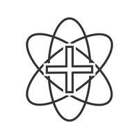 medicinsk skylt linje svart ikon