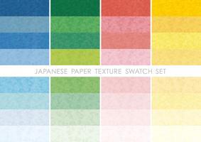 Conjunto de amostras de papel japonês.