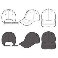 Baseball Cap mode platt vektor illustration mockup design