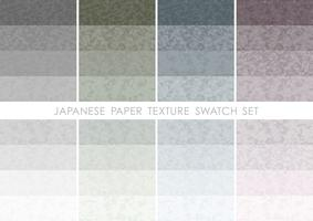 Japanese paper swatch set. vector