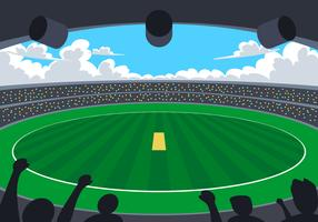 Estadio de cricket vector