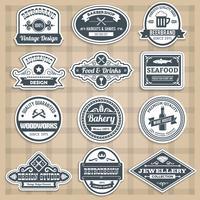 Conjunto de emblemas retro