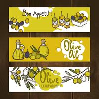 Olive Banners Set vector