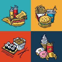 Concepto de diseño de comida rápida