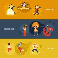 Conjunto de banners de baile