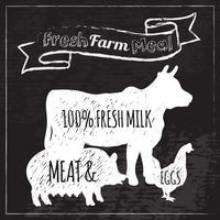 Pizarra del cartel de la granja