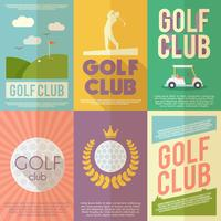 Ensemble d'affiches de golf