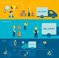 Delivery Man Banner vector