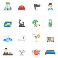Hotell Flat Icon Set