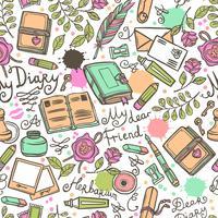Diary Seamless Pattern