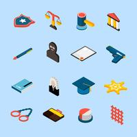 Law Icons Isometric