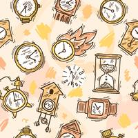 Clock Seamless Pattern