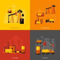 Plano de la industria petrolera