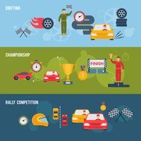 bandera auto deportivo vector