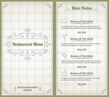 Restaurant Menu Design 4441 Free Downloads