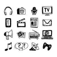 Jeu d'icônes de médias