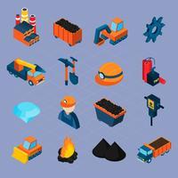 Isometrisches Set für die Kohleindustrie