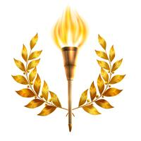 Torch e Laurel Wreath