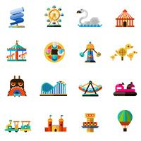 Ícones do parque de diversões