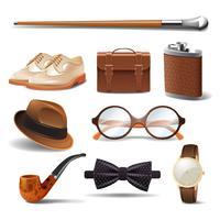 Conjunto realista de cavalheiro
