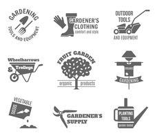 Conjunto de etiquetas de jardín