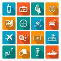 Iconos de navegación plana
