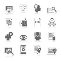 Programador ícone preto