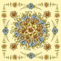 Patrón floral de la vendimia