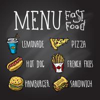 Fast Food Chalkboard