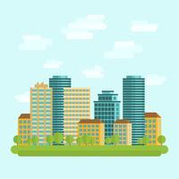 Centro de la ciudad centro plano