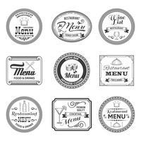 Étiquettes de menu rétro