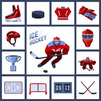 Set di icone di hockey