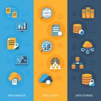 Conjunto de banners verticais de grande volume de dados