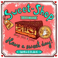 Cartaz de doces vintage Sweetshop