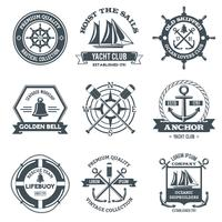 Nautical Label Black vector