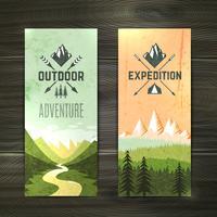 Conjunto de banners verticales de turismo.